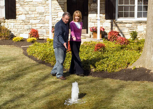 Front Yard Flooding?  You Might Have a Water Service Line Leak!