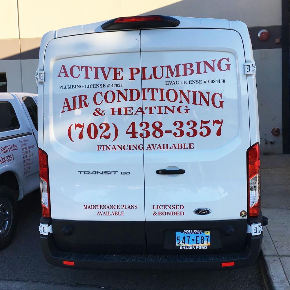 Active Plumbing Truck Rear